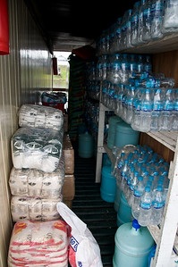 On boarding our boat we were happy to see that it was well stocked with water. We were advised not to use anything other than bottled water, even for brushing our teeth.