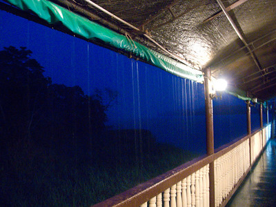And the rains started. We had been very lucky to have stayed dry so far