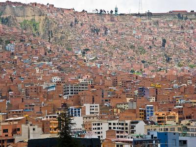 The slum areas