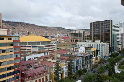 The city of La Paz is set in a valley. The lower the area, the more prestigious is the property, The poorer people live hight on the maountain side, or on the plateau above the city.