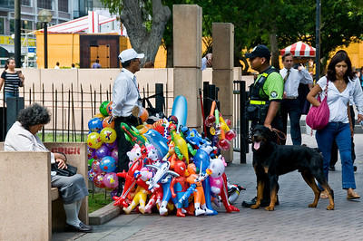 The city parks were busy and very tightly policed