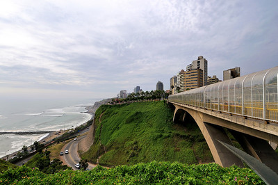 The city is perched on a high bluff overlooking the ocean. We were advised not to take the footpath to the beach - too high a chance of being robbed.