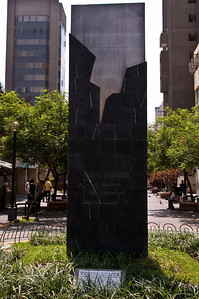 Monument erected to commemorate a Shining Path bombing.