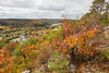Foilage on top of Eagle's Nest overlooking Bancroft, Ontario.