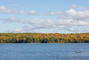 Looking across Moira Lake in Madoc from boat launch.