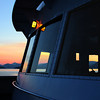 Sunset from the ferry of the Alaska Marine Highway the first evening. I had an inside cabin that night which was just okay. It was nice to have a place to put my stuff while onboard, and to sleep there. June 3, 2009.