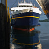 According to Maggie (crew member) it's rare for two Alaska Marine Highway ships to be docked at the same port at the same time as here in Sitka. And rare for me to catch it this early in the morning, around 6 am. June 27, 2009.