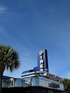Fort Myers - Diner under Blue Sky