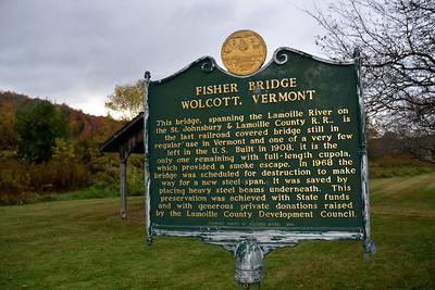 Wolcott - Fisher Bridge Sign Board