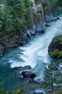 The Nahatlatch River in Southern British Columbia.
