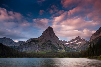 Pyramid Peak and Glenn's Lake, Glacier National Park.