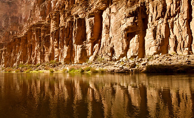 Cliff reflections on the Colorado River.