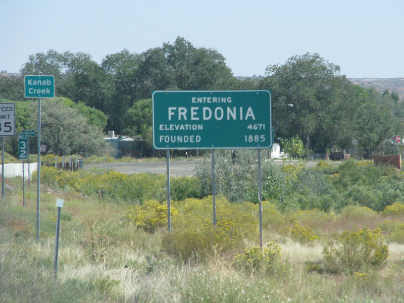 This would be our first time in Fredonia,Arizona.