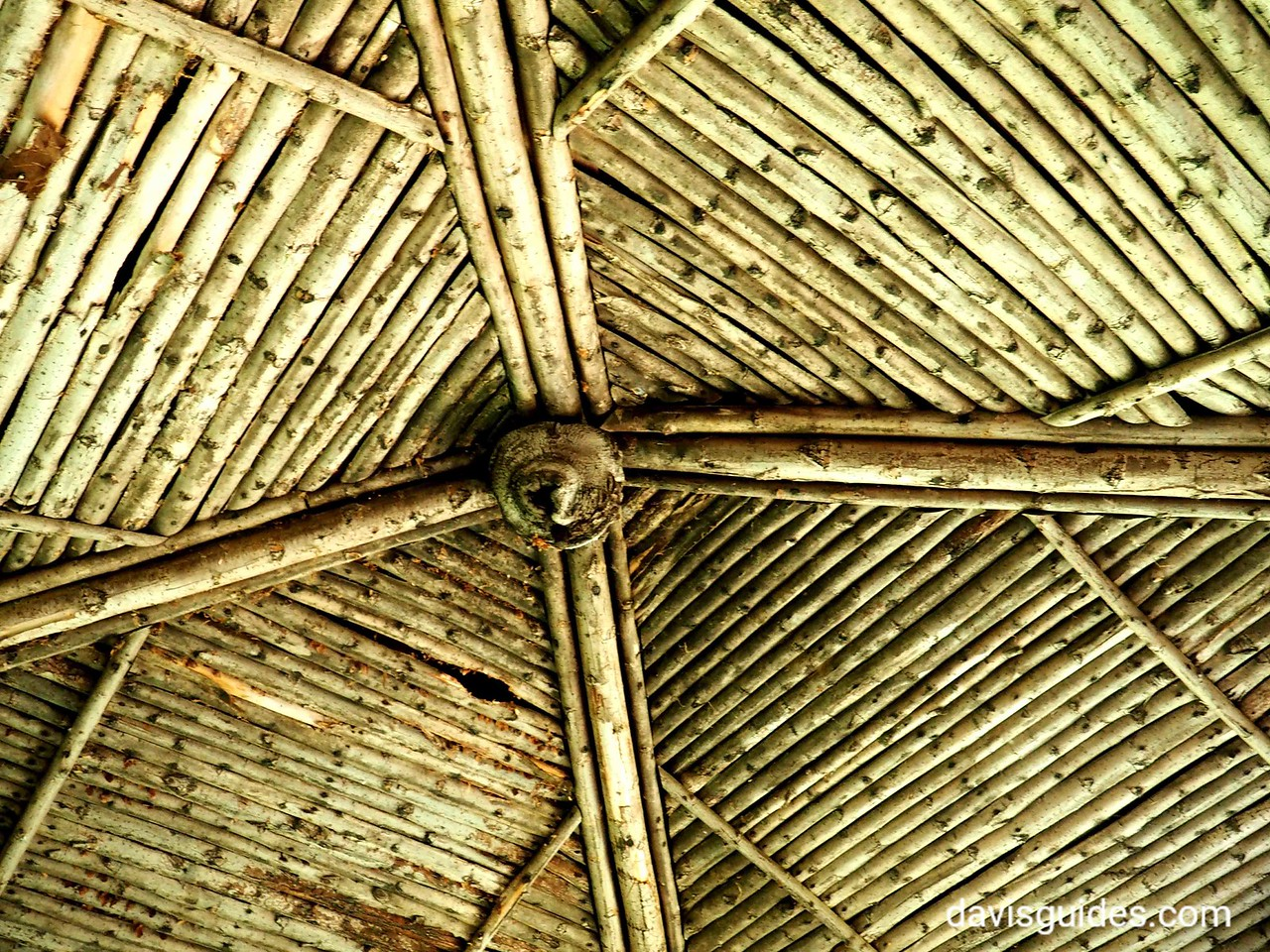 Roof of garden gazebo, Marsh Billings Rockefeller NHS, VT