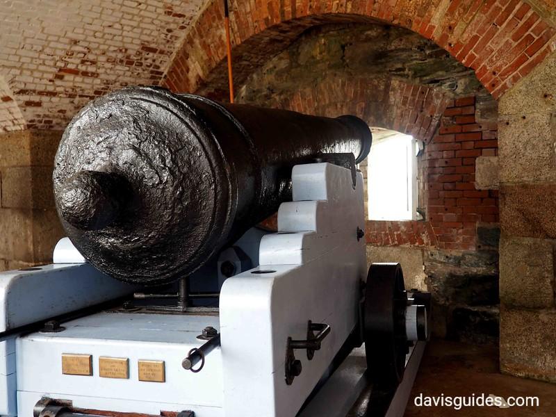 Cannon in casemate at Fort Adams, Newport RI