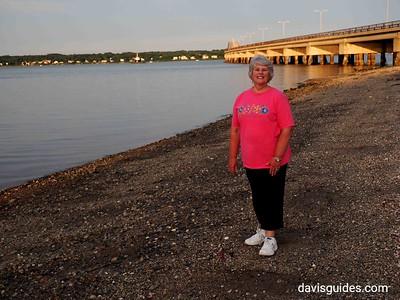 Helen on evening stroll along Naragansett Bay, North Kingstown RI