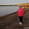 Helen on evening stroll along Naragansett Bay, North Kingstown RI