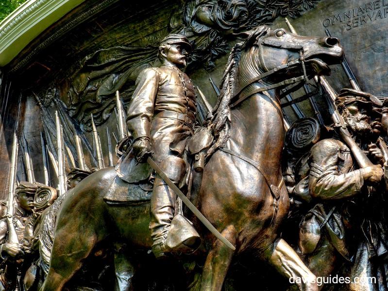 54th Massachusetts sculpture, St. Gaudens NHS, NH