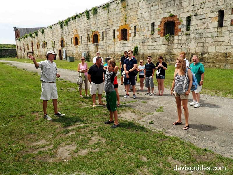 Tour group at Fort Adams, Newport RI