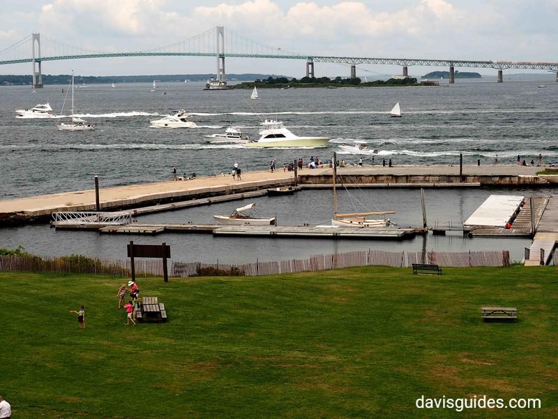 Naragansett Bay from Fort Adams, Newport RI