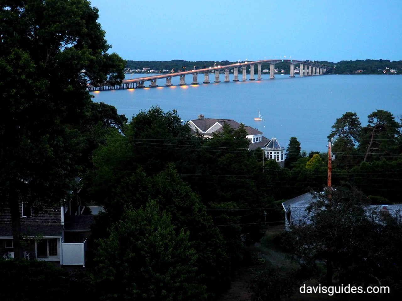 bridge over Naragansett Bay from AirBNB terrace, North Kingstown, RI