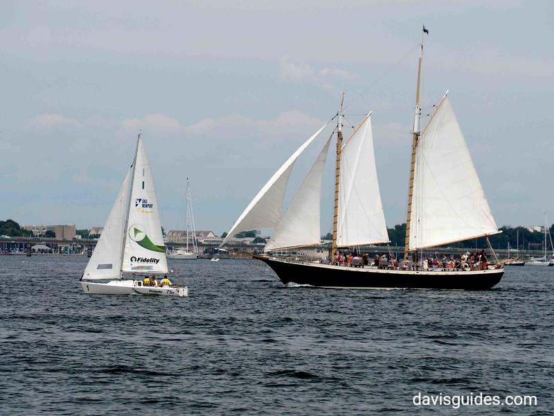 Sailboats on Naragansett Bay, Newport RI