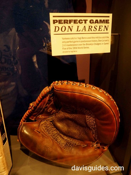 Yogi Berra's glove used to catch Don Larsen's perfect game in 1956 World Series