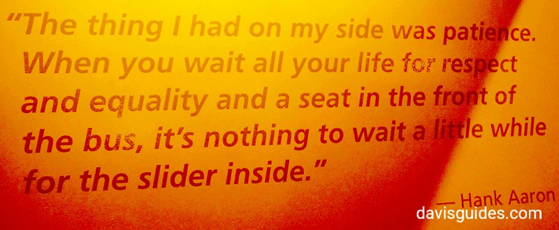 Hank Aaron quote in exhibit Cooperstown