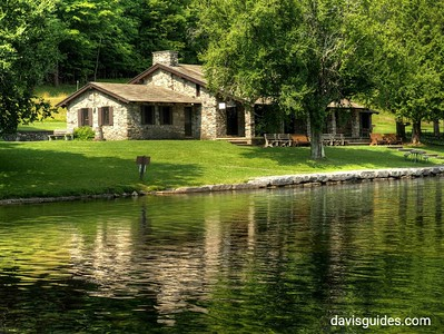 CCC built pavilion at Gilbert Lake State Park, NY