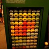 Baseballs depicting Ted Williams batting averages, Cooperstown NY