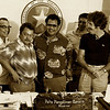 Bill, President of the Senate Borja, Governor Tenorio, Speaker of the House Fitial, Coastal Resources Director Tamapan, Peter, and Lt. Governor Tenorio (1982).