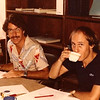 Peter and Bill working at AG's Office in 1982.