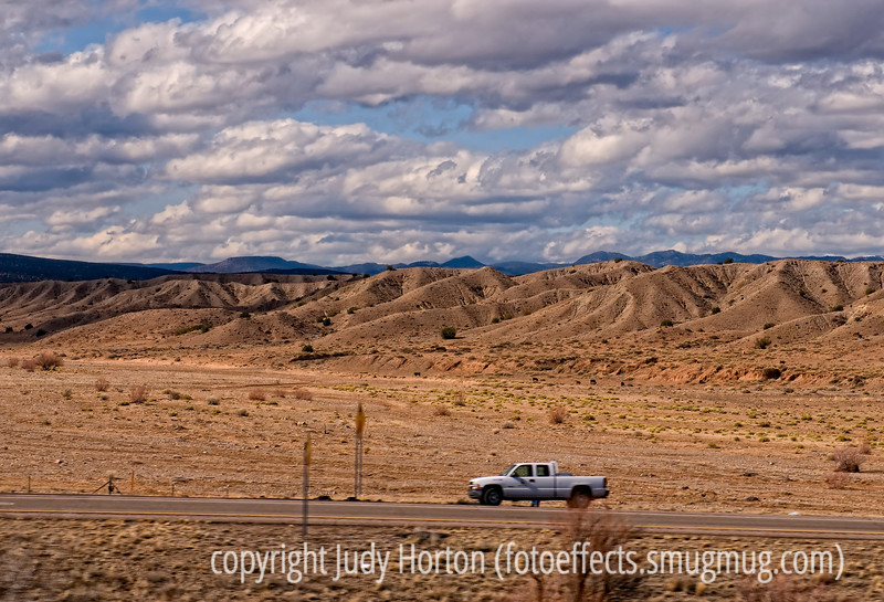 A fairly typical landscape in New Mexico