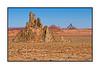 Rock formations along the road, not too far from Kayenta, Arizona