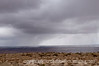 A snow squall in the distance in Northern Arizona in the early spring