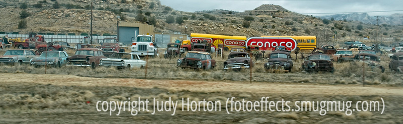 Auto graveyard, New Mexico