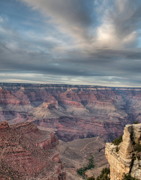 South Rim of the Grand Canyon at dusk, Arizona