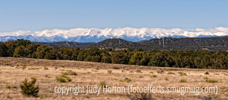 Snow-capped Sangre de Cristos mountains in Southern Colorado in early March, 2010.