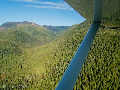 Float plane flight from Khutzeymateen to Prince Rupert