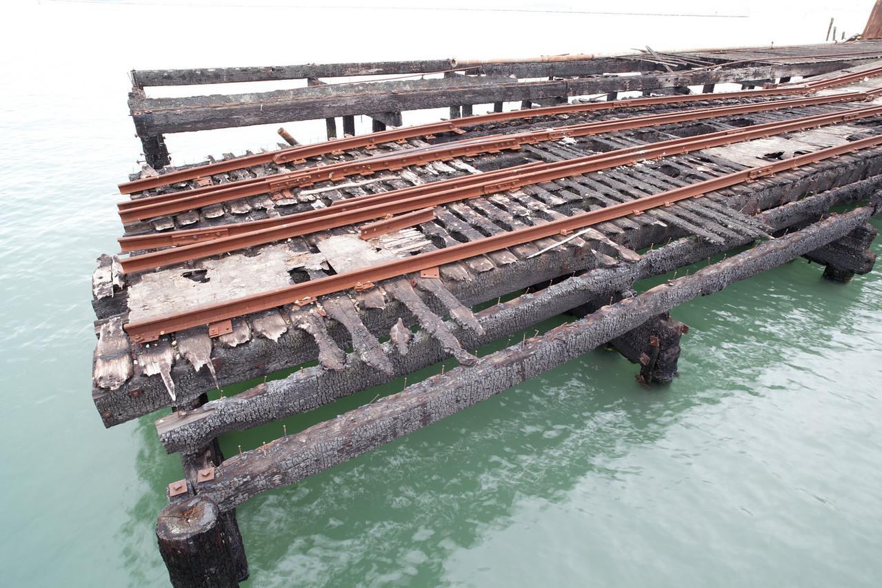 The old rail system feeding ferry point