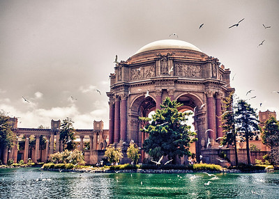 Palace of Fine Arts, hyper dynamic range style