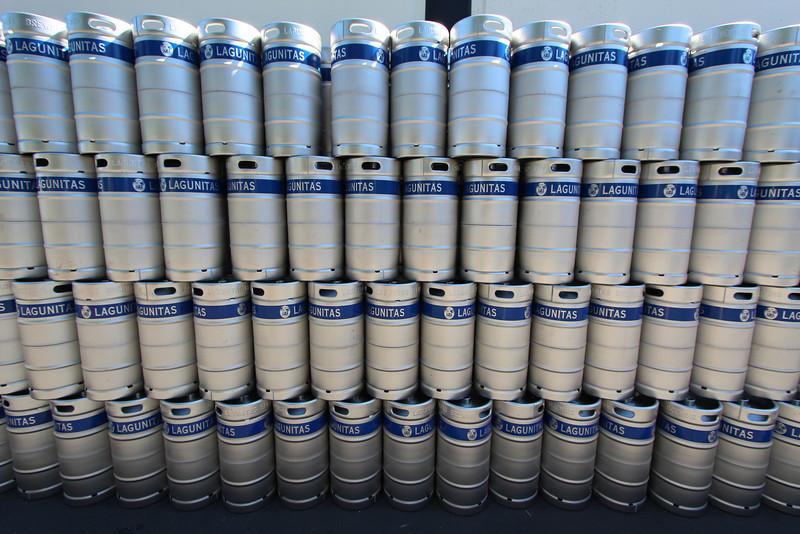 Kegs, kegs, and more kegs at Lagunitas Brewing.