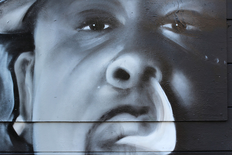 Wonderful street art on the way to Haight-Ashbury.