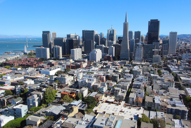 The view from atop Coit Tower.