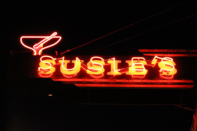 Loved this sign for Suzie's bar.