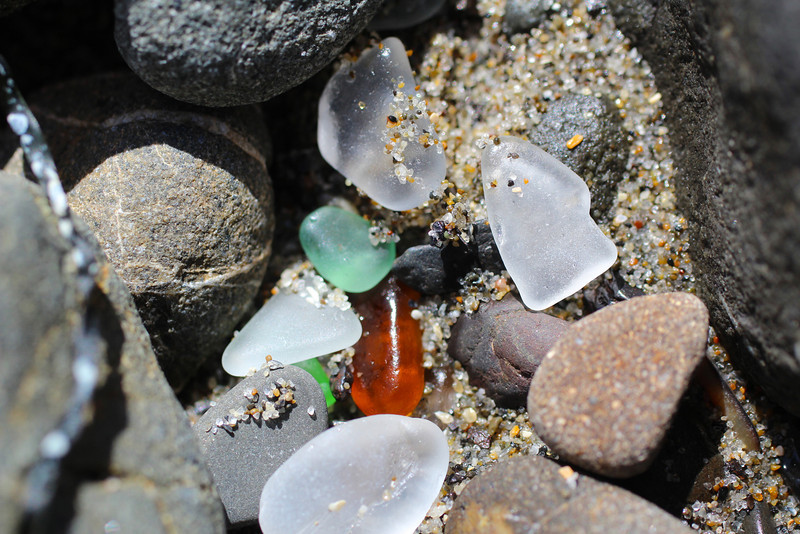 Glass Beach near Fort Bragg.