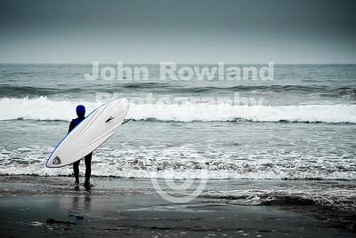 Surfer at Stinson Beach
