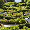 Lombard Street, the crookedest street in the world.