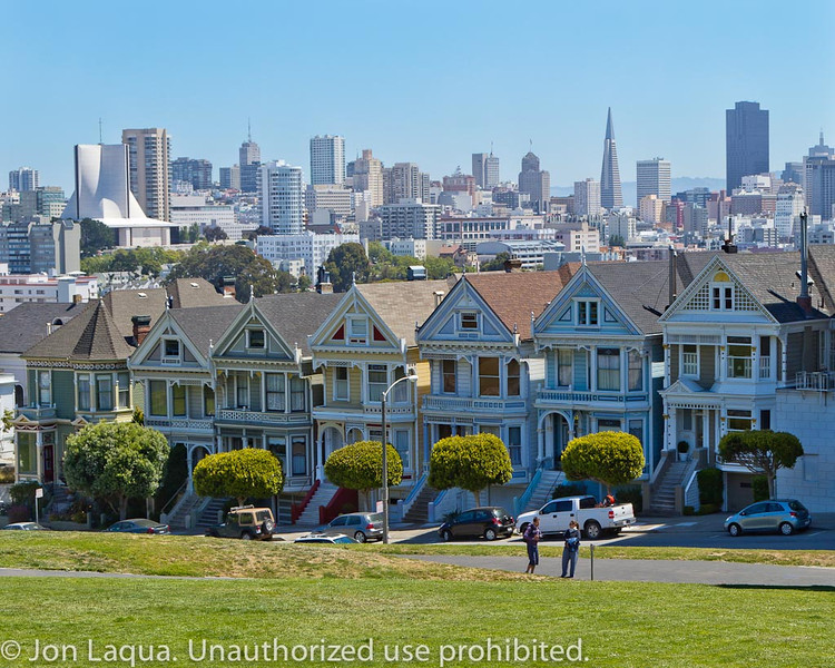 The Painted Ladies, in Alamo Square.