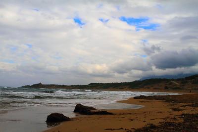 Turtle Beach Shores in December, Kyrenia, Northern Cyprus